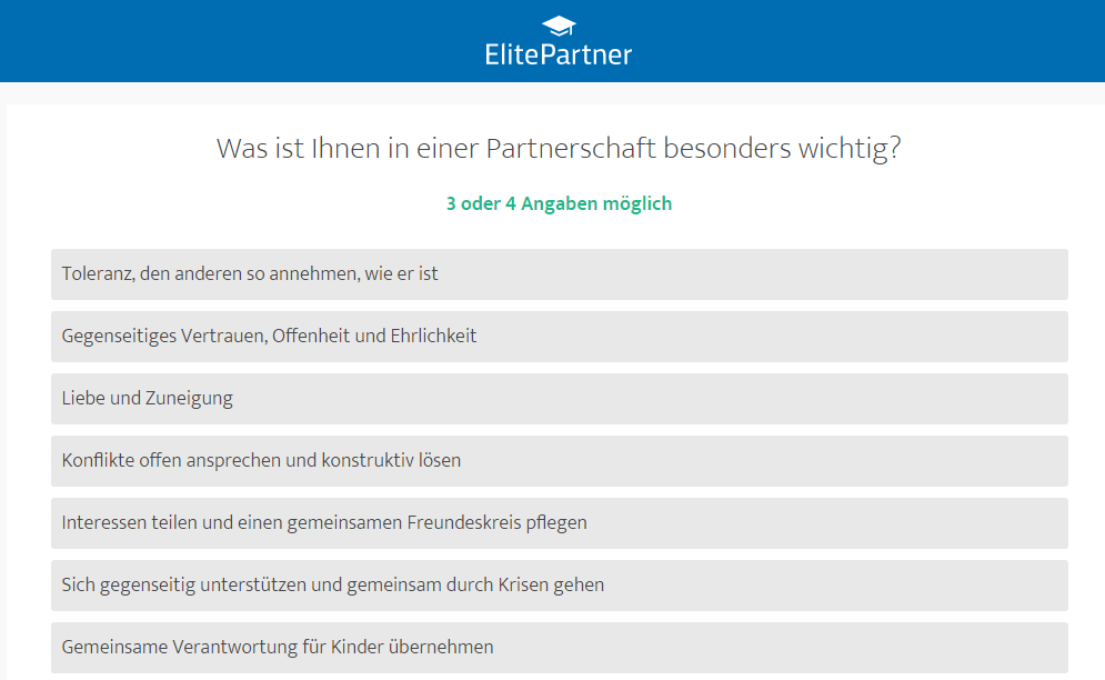 ElitePartner Testfragen