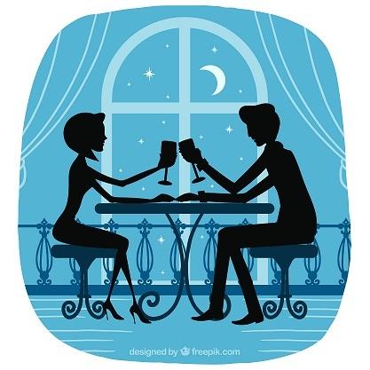 Candle-light Dinner durch Kontaktbörse