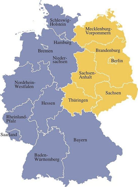Regionale Singlebörsen gibt es für viele Regionen - Deutschland-karte