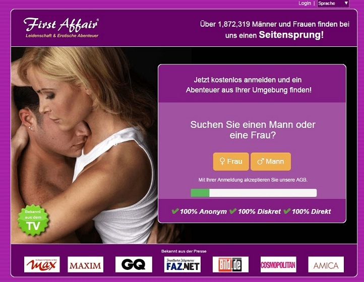 First Affair Registrierung